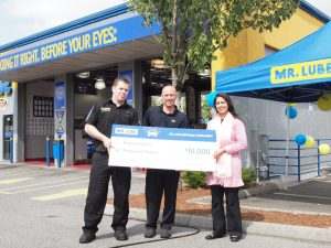 The Maple Ridge winner of the recent Mr. Lube contest